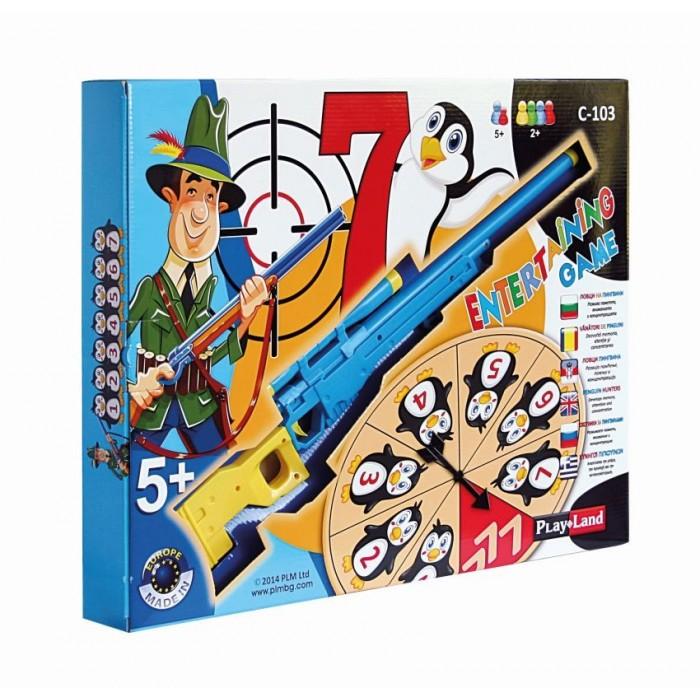 Ловци на пингвини - детска занимателна игра с пушка и мишени
