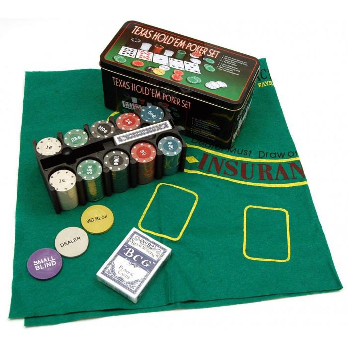 Комплект за покер с 200 чипа